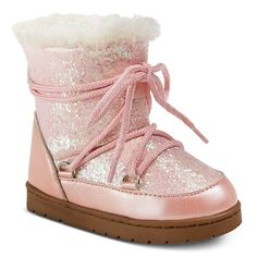 Toddler Girls' COVERGIRL Glitter Lace Up Snow Boots : Target