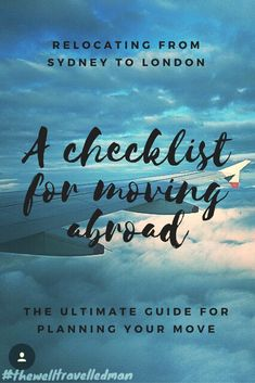A helpful checklist for moving abroad