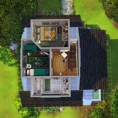 magnoliidae — i ended up not using this house, so i figured i'd. Sims 4 House Plans, Sims 4 House Building, Sims 4 House Design, Tiny House Design, Sims 4 Challenges, Casas The Sims 4, Sims 4 Characters, Sims Four, Sims 4 Cc Furniture