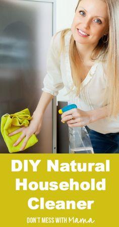 DIY Natural Household Cleaner #DIY #essentialoils #home - DontMesswithMama.com