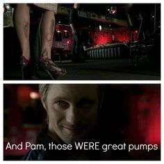 And Pam, those WERE great pumps- Eric, True Blood