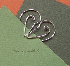 Stork love - wire bookmark