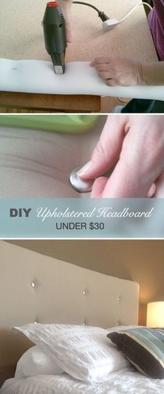Make A Contemporary Upholstered Headboard For Under $30. Custom HeadboardDiy  ...