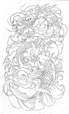 Koi and dragon placement idea