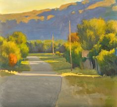 """Evening Road - Oil on canvas, 22"""" x 24"""""""