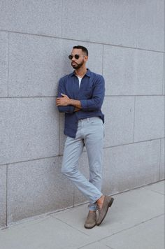 Summer and soring look in blue Minimal Look, Minimal Outfit, That Look, Normcore, Summer, Blue, Men, Outfits, Style