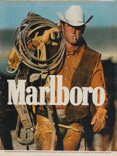 Marlboro cigarettes - name origin of the brand - High Names agency Vintage Cigarette Ads, Cigarette Brands, Vintage Ads, Vintage Posters, Marlboro Cowboy, Marlboro Man, Malboro, Cowboy Outfits, Morris