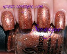 Scrangie: China Glaze Glitters Ginger