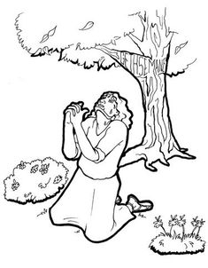 Praying of Jesus Christ coloring page picture in the