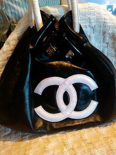Brand New Coco Chanel Black Leather Purse