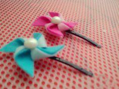 DIY cute bobby pins in shape of windmill