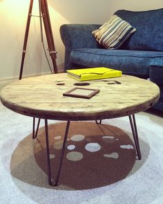 Reclaimed Cable Reel Coffee table by TheBarnUK on Etsy