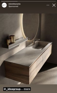 Washroom Design, Bathroom Design Luxury, Modern Bathroom Design, Bathroom Vanity Units, Bathroom Cabinets, Lavabo Design, Washbasin Design, Oak Vanity Unit, Wall Hung Vanity