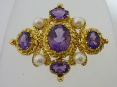 Fine Vintage Gold & Silver Jewellery And Silverware & Sculptures Gold Brooches, Animal Sculptures, London, Silver Jewelry, Amethyst, Jewelry Watches, Vintage, Pearls, Sterling Silver