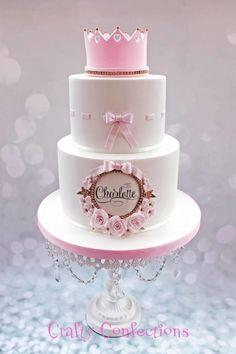 Princess Christening cake by Kelly Cope