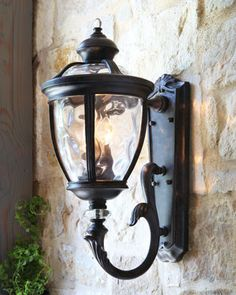 Baltic Three-Light Lantern - traditional - outdoor lighting - Horchow