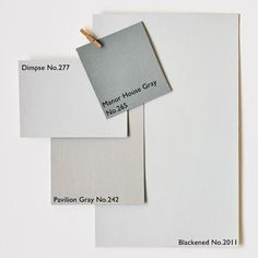 Architectural Neutrals :: via Farrow & Ball (pavillion grey no 242)