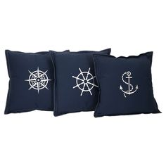 Admiral Pillow Set, perfect for the boat!