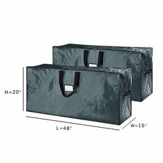The set of two Artificial Christmas Tree Storage Bags from Elf Stor are a convenient way to clean up after holiday season. These durable, full zipper closure bags feature vinyl carrying handles for simple transporting. Wreath Storage Box, Ornament Storage Box, Gift Wrap Storage, Bag Storage, Christmas Tree Bag, Christmas Ornament Storage, Holiday Storage, Storage Boxes With Lids, Storage Containers