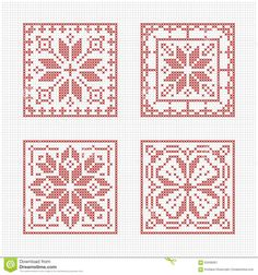 Scandinavian Style Cross Stitch Pattern - Download From Over 47 Million High Quality Stock Photos, Images, Vectors. Sign up for FREE today. Image: 63436261