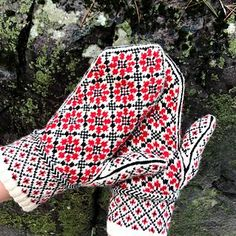 These three stranded mittens were inspired by a vintage image of traditional Russian embroidery. These traditionally shaped mittens feature a modern thumb for added comfort and durability. If your winters are as dreary as mine are, these cozy mittens provide a much needed pop of color to brighten the season.