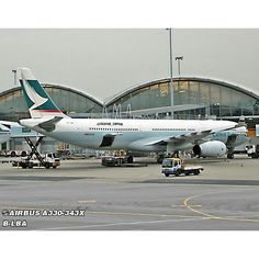 Cathay Pacific Airbus A330 loading cargo - by @luckyas_capital