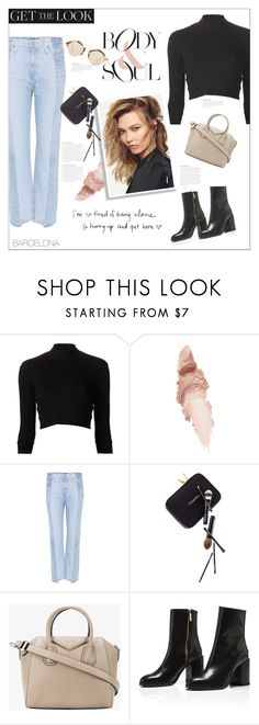 """CHIC"" by karalaska ❤ liked on Polyvore featuring Again, Maybelline, AG Adriano Goldschmied, Guide London, Givenchy, Illesteva, Chanel, barcelona, Europe and Spain"
