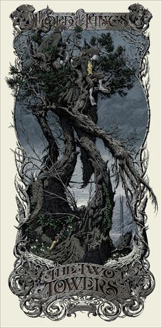 Aaron Horkey's The Two Towers posters