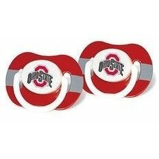 NCAA Baby Infant Pacifier Stripe 2-Pack (Ohio State Buckeyes)