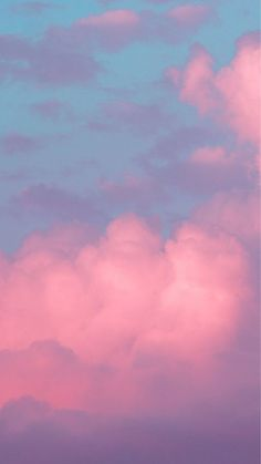 Clouds Wallpaper Iphone, Cloud Wallpaper, Pink Wallpaper, Galaxy Wallpaper, Nature Wallpaper, Aesthetic Pastel Wallpaper, Aesthetic Backgrounds, Aesthetic Wallpapers, Sky Aesthetic