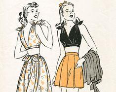 Vintage couture modèle Vogue 40 années 1940 par LadyMarloweStudios