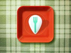 pretty cool Dish Locator #ios #Icon