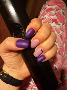 Purple gel nails ❤