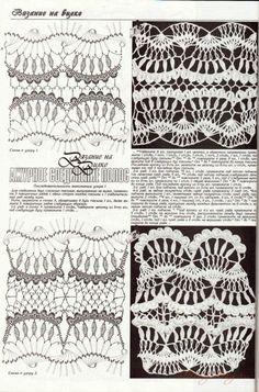 Hairpin lace, #free #crochet #pattern <3ceruleana<3 from Gallery.ru / Фото #13 - Способы формирования полотна - Alleta