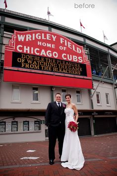 Wrigley Field Chicago Wedding Cubs Angel Eyes Photography Bridal Party Pinterest And