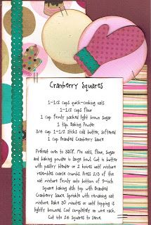 Paper Cottage: Recipe Kit of the Week - 11/28/2011