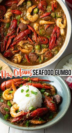 How to Make Authentic New Orleans Seafood Gumbo - This homemade gumbo recipe is loaded with lots of fresh seafood and intense Cajun flavors for a zesty taste of Louisiana. #seafoodgumbo #authenticgumbo #neworleansgumbo #cajungumbo #homemadegumbo #gumborecipe #aspicyperspective #neworleans #cajun #gumbo #seafood #crawfish #crab Easy Soup Recipes, Entree Recipes, Fish Recipes, Seafood Recipes, Cooking Recipes, Seafood Gumbo, Seafood Dishes, Cajun Gumbo, New Orleans Gumbo