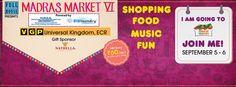 #madrasmarket VI on Sep 5-6 at VGP, ECR chennai  #MadrasMarket #Madras #Chennai #ShoppingFest #Entertainment #FullHouseentertainment #Fun #Food #Music