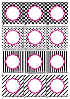 PDF Editável   Etiquetas Organizadoras/Multiuso Ref. Girly Girl