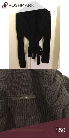 Elie Tahari wrap cardigan Super soft! Cotton/silk blend. Looks lovely - ultimately not my style. :( Elie Tahari Sweaters Cardigans
