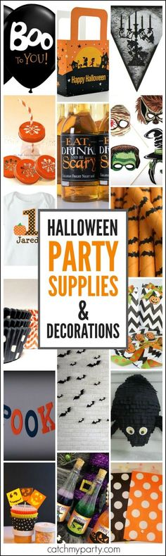 Halloween Party Supplies and Decorations Roundup from small shop owners! | http://CatchMyParty.com