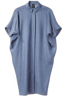 Zero + Maria Cornejo / Aissa Shirt Dress looks comftable to wear Looks Style, My Style, Streetwear, Oversized Shirt Dress, Maxi Robes, Mode Hijab, Mode Inspiration, Fashion Dresses, Glamour