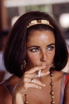 "Elzabeth Taylor when smoking seemed ""cool."" 1960's"