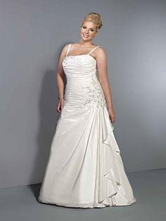 Fancy natural waist taffeta wedding dress