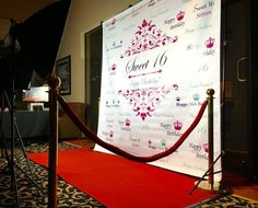 Sweet 16 backdrop Event step and repeat Backdrop Birthday photo backdrop Red Carpet Backdrop Sweet 16 birthday banner Party backdrop Banner Backdrop, Birthday Backdrop, Photo Booth Backdrop, Backdrop Event, Backdrop Ideas, Sweet 16 Themes, Sweet 16 Decorations, Prom Backdrops, Backdrops For Parties