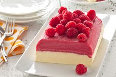 Cool off this summer with this Raspberry Summer Sensation. Made with raspberry sorbet, JELL-O vanilla instant pudding and COOL WHIP, this Raspberry Summer Sensation will be the perfect treat to prepare for your next grill-out get-together. Kraft Recipes, Dessert Recipes, Meal Recipes, Family Recipes, Pasta Recipes, Cake Recipes, Chicken Recipes, Cool Whip, Raspberry Sorbet