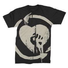Rise Against - Oversized Discharged HeartFist Tee (Black)