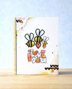 I Love You card by Emily Leiphart for Paper Smooches - Love Word 2 Dies, Lots of Love, Hearts Dies
