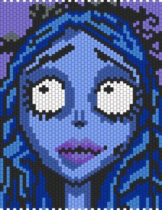 corpse bride pixel art pattern - Google Search