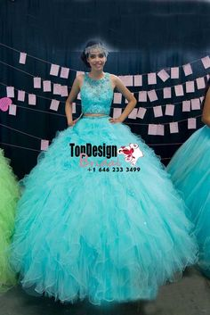 2017 new beaded two piece sweet 15 ball gown tiffany blue satin tulle prom dress gown vestidos de 15 Xyz Bridal Sweet 15 Dresses, Unique Dresses, Pretty Dresses, Pretty Quinceanera Dresses, Blue Wedding Dresses, Quinceanera Party, Tulle Prom Dress, Ball Gown Dresses, Dresser